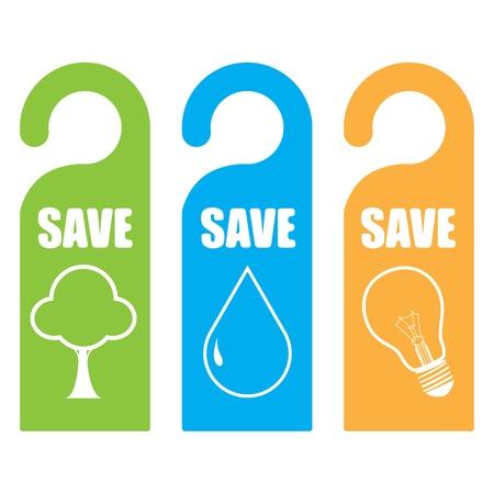 Symbool van sparen voor de wereld concept