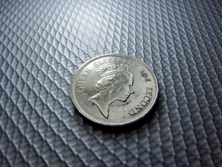 protectorate: Hong Nong Dollar coin Stock Photo