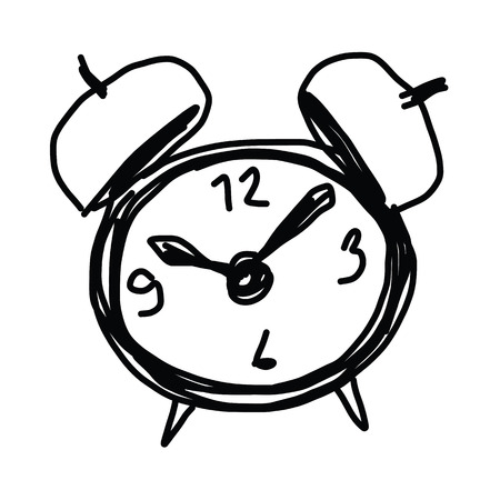 sketch illustration of the alarm clock Stock Vector - 22547910