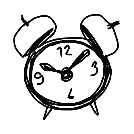 sketch illustration of the alarm clock Stock Vector - 22547910