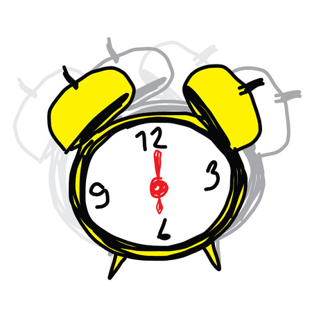 sketch illustration of the alarm clock Stock Vector - 22547913