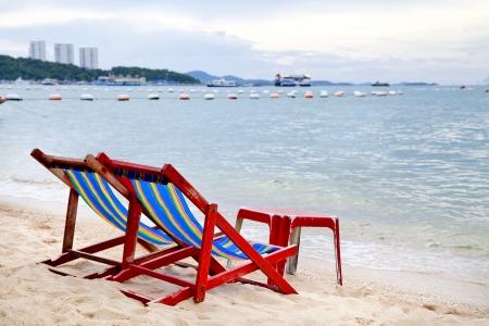 silla playa: SILLA DE PLAYA Foto de archivo