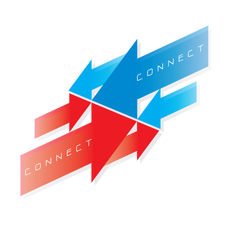 THE ABSTRACT OF CONNECT ICON VECTOR Ilustração Vetorial