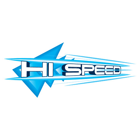 high speed internet: The abstract of Hi Speed Concept vector