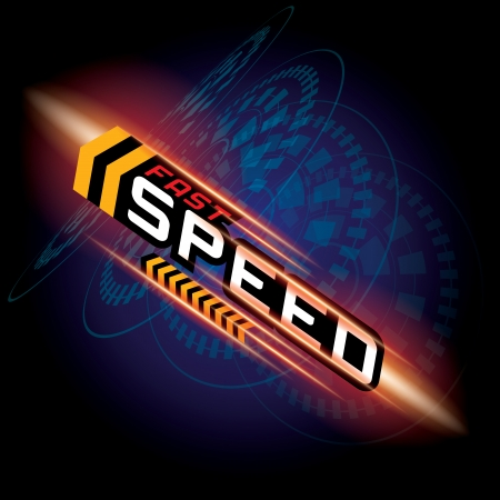 high speed: THE ABSTRACT OF FAST SPEED CONCEPT VECTOR Illustration