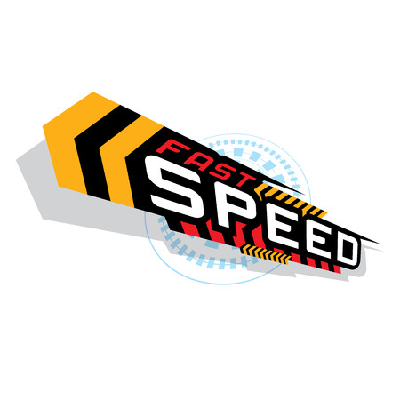 THE ABSTRACT OF FAST SPEED CONCEPT VECTOR Illustration