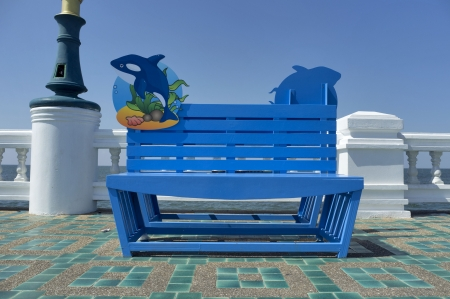 Chairs by the sea. photo