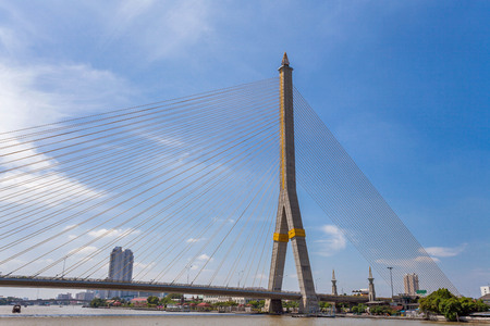 viii: The Rama VIII bridge over the Chao Praya river in Bangkok, Thailand
