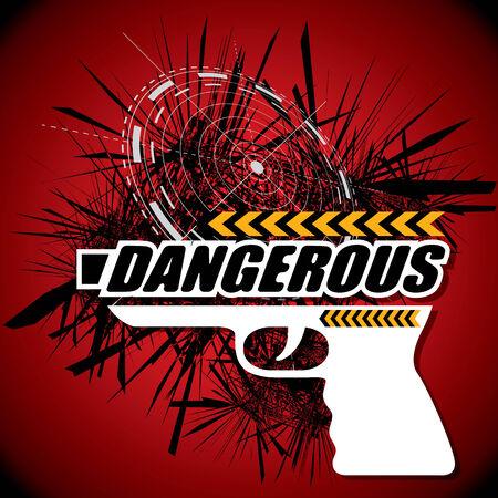 dangerous: THE ABSTRACT OF DANGEROUS GUN VECTOR Illustration