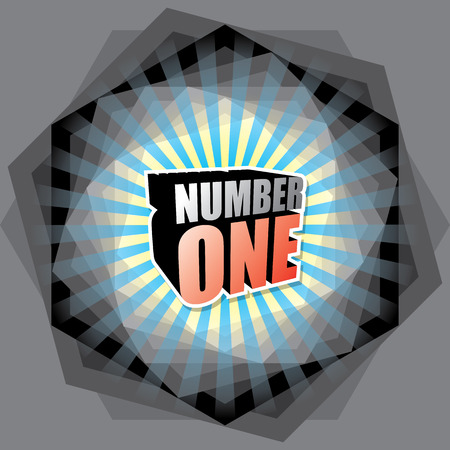 uno: THE ABSTRACT OF NUMBER ONE CONCEPT VECTOR