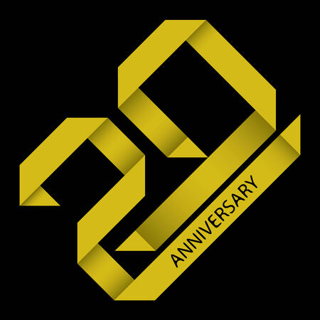 The abstract of 20 years anniversary vector Vector