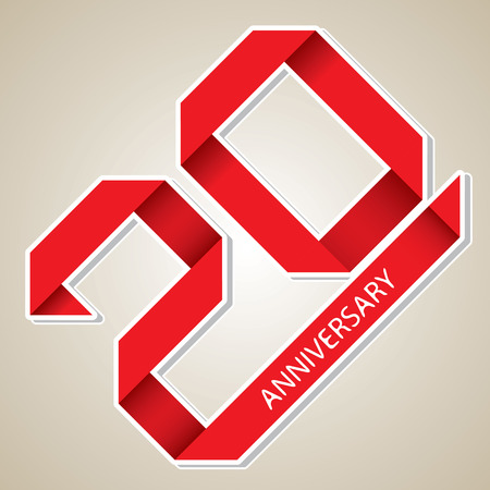 The abstract of 20 years anniversary vector