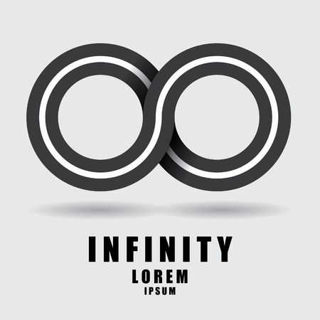 reverberation: The abstract of infinity sign Illustration