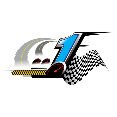 The abstract of number 1 speed Concept vector photo