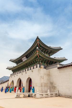 gyeongbokgung: Gyeongbokgung Palace in Seoul , South Korea