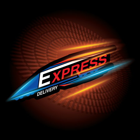 The abstract of Express delivery concept  Vector