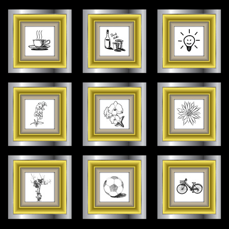 line drawings: The abstract of Line drawings in the frame vector.