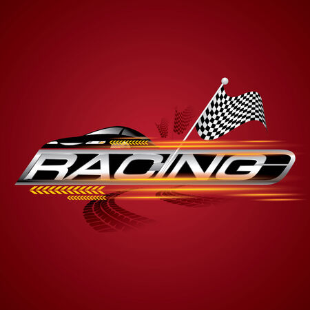 The Abstract of Racing with Checkered Flags Concept Vector