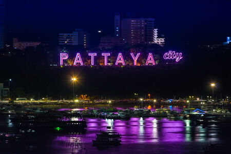 Pattaya City Thailand, Night Light photo
