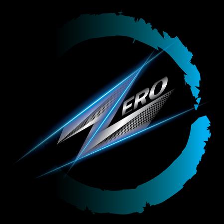 nulo: signo cero ilustraci�n vectorial Vectores