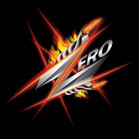 zero sign illustration vector Vector