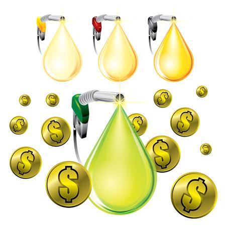 propellant: Oil drop concept - vector illustration