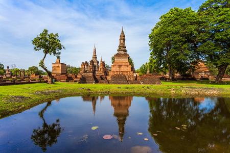 historische: Sukhothai historisch park in de provincie Sukhothai in Thailand