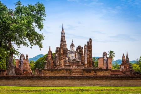 Parco storico di Sukhothai in provincia di Sukhothai in Thailandia Archivio Fotografico - 29755888