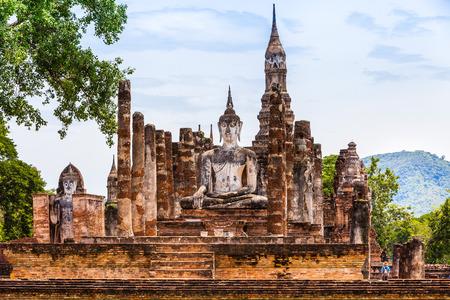Sukhothai historical park at Sukhothai province in Thailand photo
