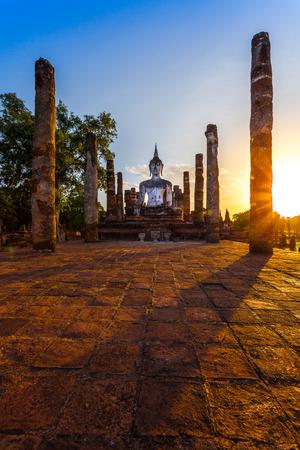 Buddha Statue in Wat Mahathat Temple in Sukhothai Historical Park, Sukhothai Province, Thailand   photo