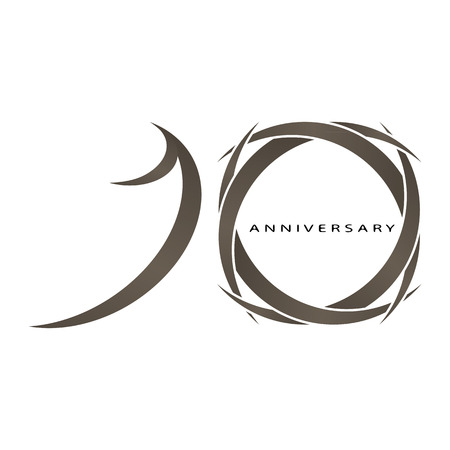 The abstract of 10 years anniversary vector Vector