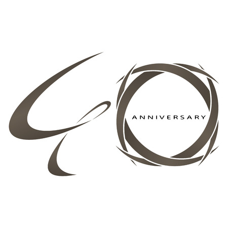 40th: The abstract of 40 years anniversary vector