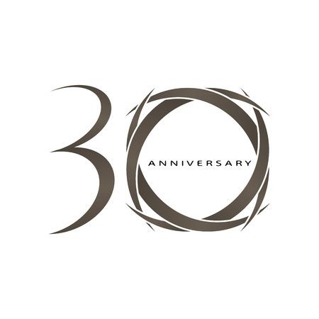 L'abstract del 30 ° anniversario vettoriali Archivio Fotografico - 31801783