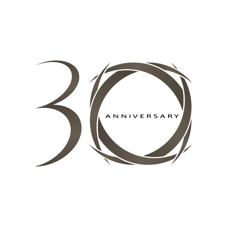The abstract of 30 years anniversary vector Vector
