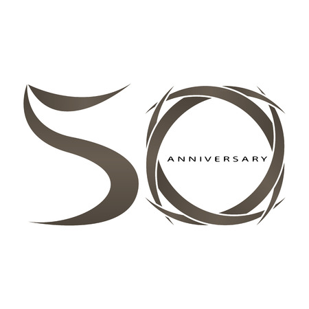 The abstract of 50 years anniversary vector
