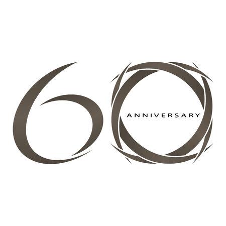 60: O resumo de 60 anos de anivers�rio de vetores