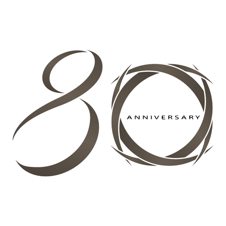 The abstract of 80 years anniversary vector