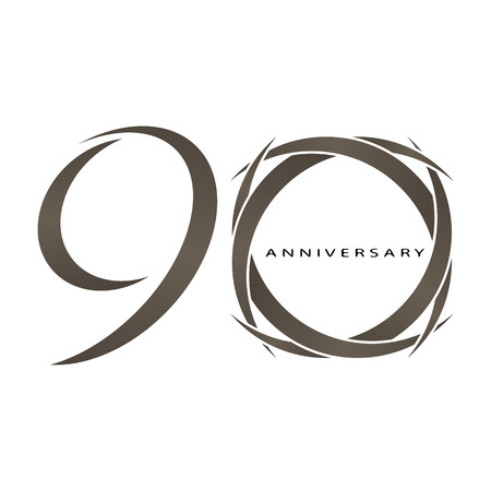 90 years: The abstract of 90 years anniversary vector Illustration