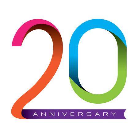 20th: 20 years anniversary vector