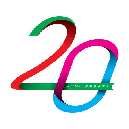 anniversaire: 20 ann�es vecteur d'anniversaire
