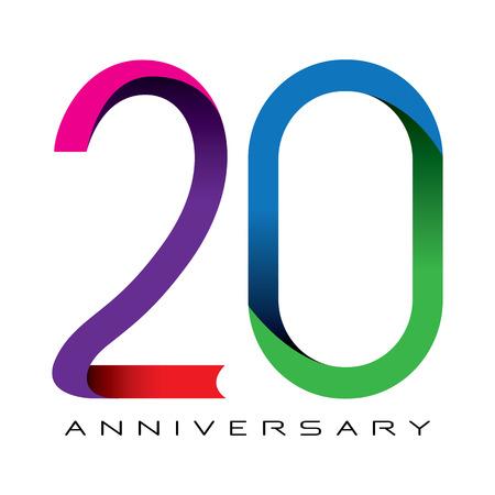 20 anni anniversario vettore Archivio Fotografico - 32368441