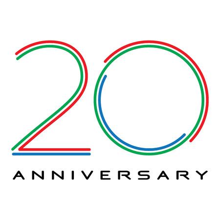 20 anni anniversario vettore Archivio Fotografico - 32368452