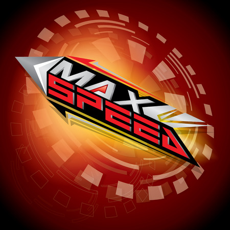 max: The abstract of Max Speed concept vector Illustration