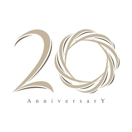 20 years anniversary vector Vector