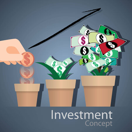 investment concept: The abstract of Investment Concept vector Illustration