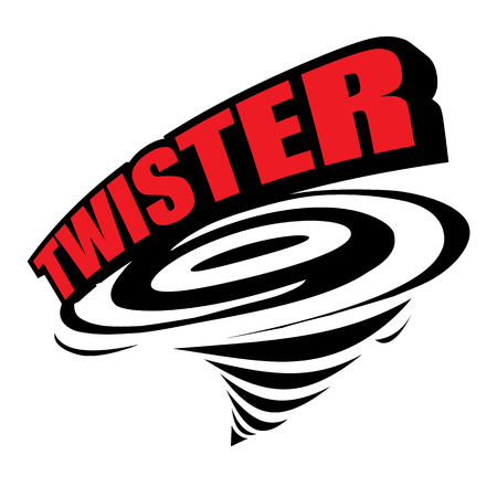 The abstract of Twister icon vector 矢量图像