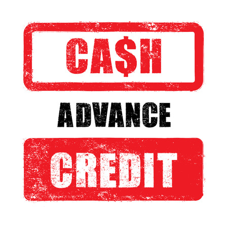 advance: Rubber stamp of cash, advance, credit vector