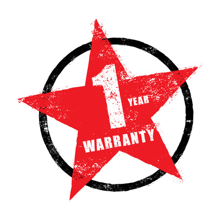 1 year warranty: Stamp of 1 year warranty sign vector