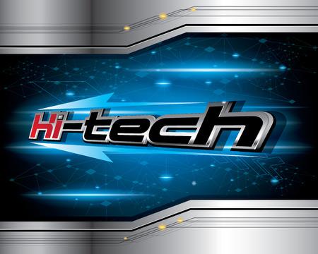 technology banner: Hi-Tech Concept Design Vector