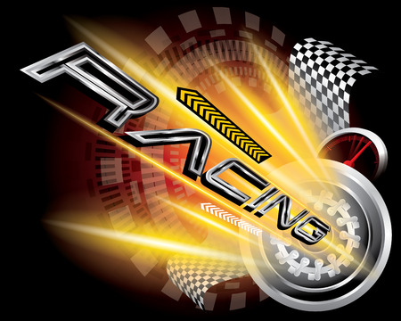 formula one: RACING CONCEPT VECTOR Illustration